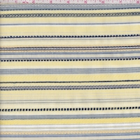 Yellow/Navy Embroidered Stripe Shirting