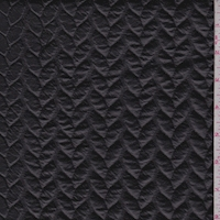 Black Braided Stripe Knit Pleather