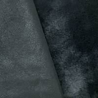*5 YD PC--Obsidian Black Double Sided Faux Leather/Fur