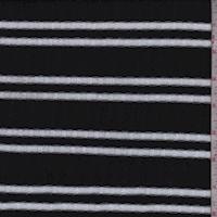 Black/White Double Stripe Poor Boy Rib Knit