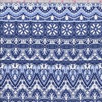 Periwinkle/Navy Deco Stripe Crepon