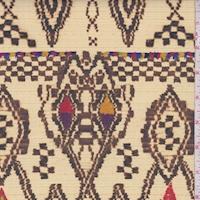 Beige/Walnut Multi Aztec Nylon Rainwear