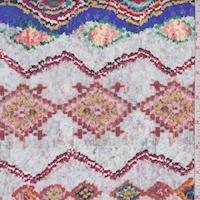 Pink/Blue/Red Mosaic Diamond Nylon Rainwear