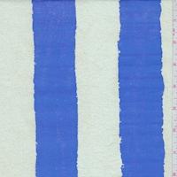 Bright Blue/Pale Sage Stripe Nylon Rainwear