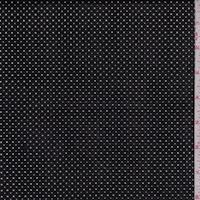 Tar Black Laser Cut Pin Dot Pleather