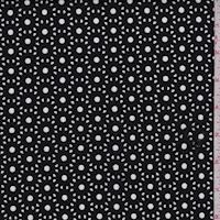 Black Floral Eyelet Knit Pleather