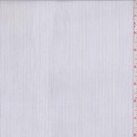 White/Charcoal Pinstripe Shirting