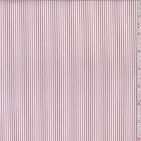 White/Garnet Pinstripe Shirting