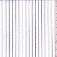 White/Black Stripe Shirting