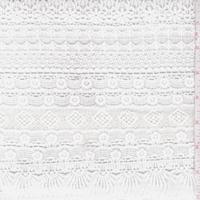 White Crochet Deco Stripe Lace