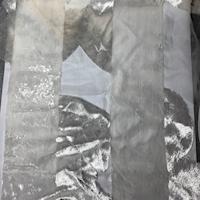 Ivory/White Burnout Stripe Panne Velvet