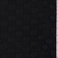 Black Block Crepe Suiting