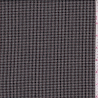 Grey/Brown/Forest Mini Houndstooth Flannel Suiting