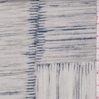 Ecru/Grey/Slate Patchwork Print Twill