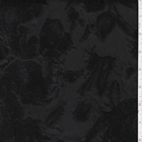 *2 YD PC--Black Jacquard Floral Organza