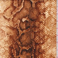 *4 YD PC--Rust/Gold Snakeskin Double Brushed Jersey Knit