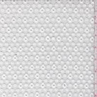 *2 1/2 YD PC--White Floral Lattice Embroidered Organza