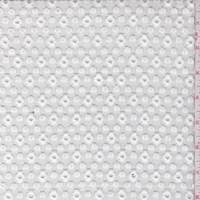 *1 3/4 YD PC--White Floral Lattice Embroidered Organza
