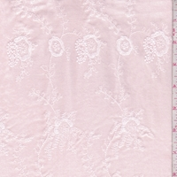 Light Pink Embroidered Floral Baby Wale Corduroy