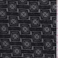 Black Embroidered Square Mesh