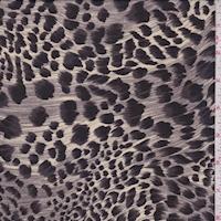Tan/Plum/Black Animal Print Georgette