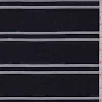 Dark Navy Stripe Suiting