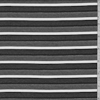 Black/White Deco Stripe Suiting