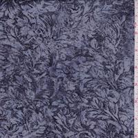Misty Blue/Ink/Navy Stylized Crepe Georgette