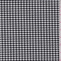 Black/White Houndstooth Check Suiting