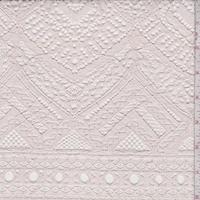 Peach Blush Deco Chevron Corded Lace