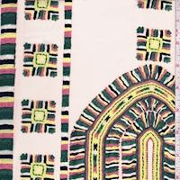 Vanilla Multi Southwest Print Silk Crepe de Chine
