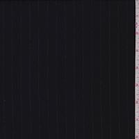 Darkest Navy Pinstripe Crepe