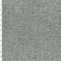 *1 1/4 YD PC--Grey/Black Herringbone Twill Home Decorating Fabric