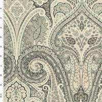 *1 YD PC--Gray/Pink/Multi Paisley Print Cotton Twill Decorating Fabric