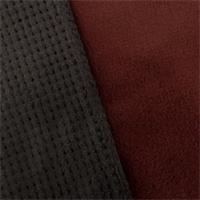 *1 YD PC--Wine Red/Brown Double Grid Fleece