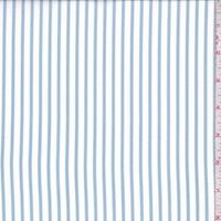 White/Powder Blue Stripe Crepe Georgette