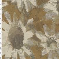 *3 3/4 YD PC--Desert Beige/Multi Daisy Jacquard Home Decorating Fabric