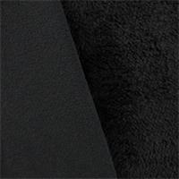 *1 YD PC--Midnight Black Double Sided Shag Fleece