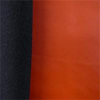 *7 YD PC--Stretch Hard Shell Fleece - Fire Orange/Black