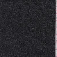 Heather Black Rib Sweater Knit