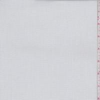 White/Pale Grey Mini Check Cotton Shirting