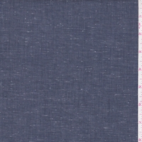 Aged Navy Slubbed Cotton Shirting