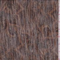 Rust/Mahogany Paisley Crinkle Chiffon