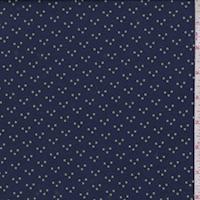 Navy/Jade Dot Rayon Jersey Knit
