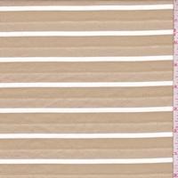 Khaki/White Deco Stripe Suiting