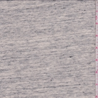 Light Heather Grey Slub Cotton/Linen Jersey Knit
