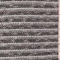 White/Stone/Black Stripe Boucle Sweater Knit