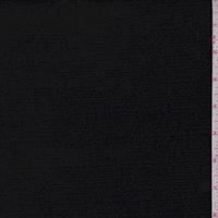 Black Crinkled Crepe Suiting