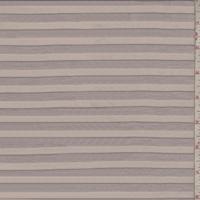 Pearl Mauve Burnout Stripe Rayon Jersey Knit