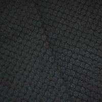 *7 YD PC -- Matte Black Wool Blend Brushed Pile Woven Coating